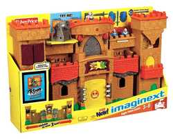 Fisher-Price Imaginext Eagle Talon Castle Play Set: The expanding Eagle Talon Castle play set brings imagination to life with sound effects, activation discs and figures to help fight the attackers.