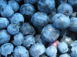 """Blueberries: This fruit is rich in antioxidants to help protect you from premature aging. Fitness magazine calls this fruit a """"superfood!"""""""