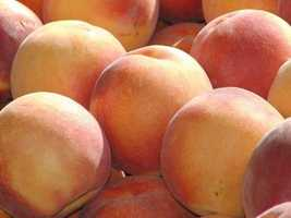 Livestrong says peaches are full of selenium and vitamin C to help build collagen, promote elasticity and reduce risk of skin cancer.