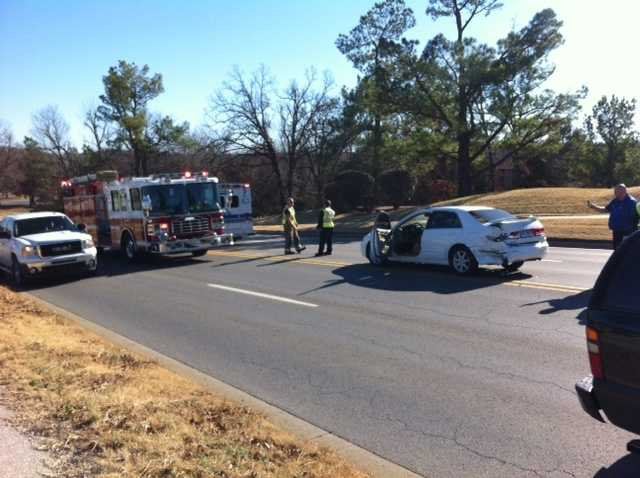 Fayetteville police and fire departments have responded to a 2 car wreck on Joyce Boulevard in Fayetteville. One person has been transported to the hospital.