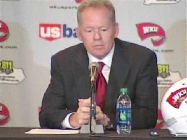 Former Arkansas head coach Bobby Petrino is announced as the new head coach at Western Kentucky University on December 10.