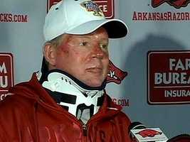 Two days later, Petrino addressed the media about the details of his accident. During the news conference, Petrino said he was alone on the motorcycle.