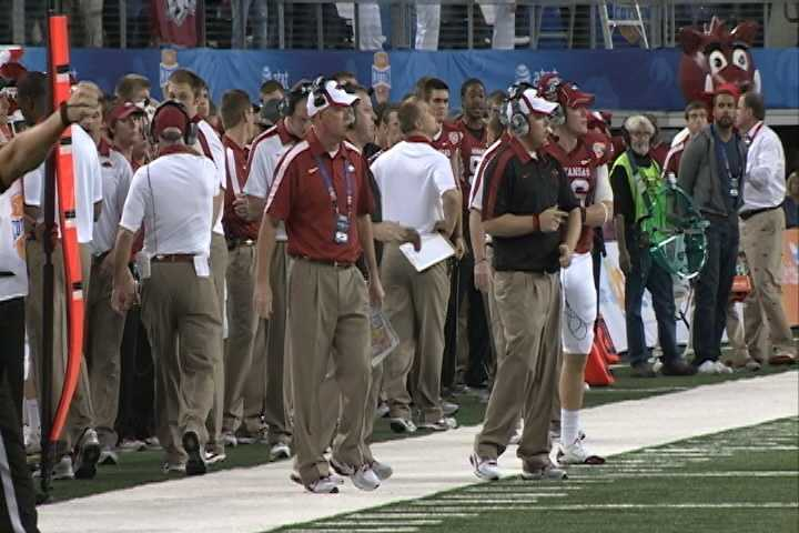 Bobby Petrino led Arkansas to a 29-16 win over Kansas State in the Cotton Bowl at Cowboys Stadium in Arlington, Texas on January 6. The Razorbacks finished with an 11-2 record and ranked 5th in the final AP Poll, their highest national ranking since finishing 3rd in 1977.