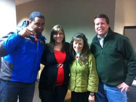 Sunrise Anchor John Paul takes a picture with his wife and the Duggars!