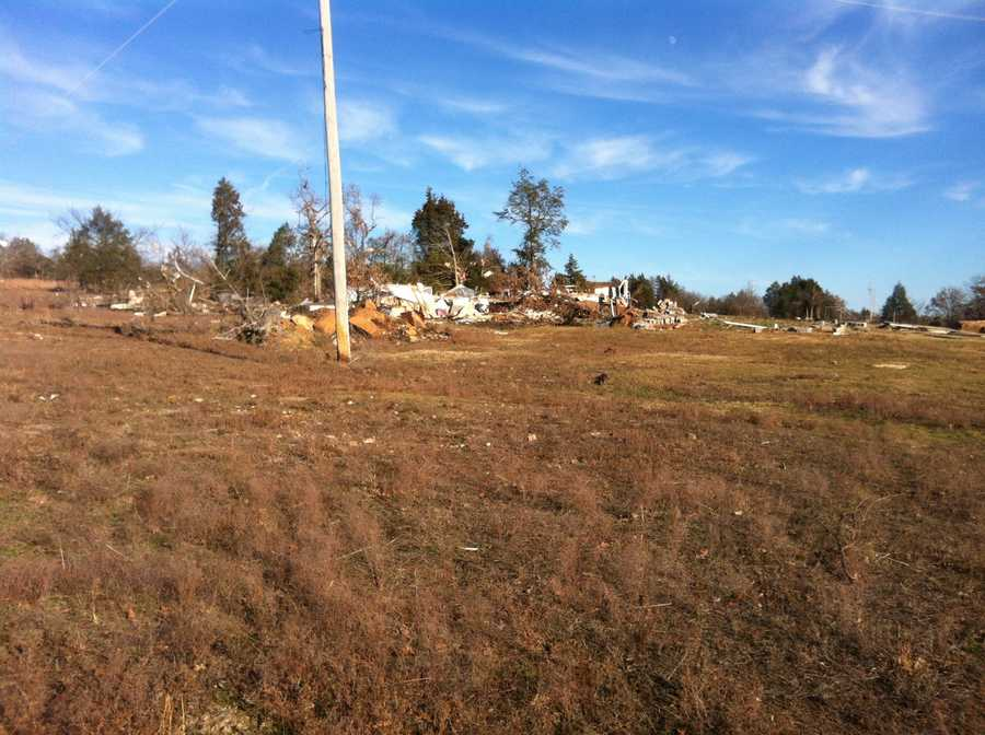 The Hobbs family in Riverdale rode out the storm that produced a tornado Wednesday in their home.
