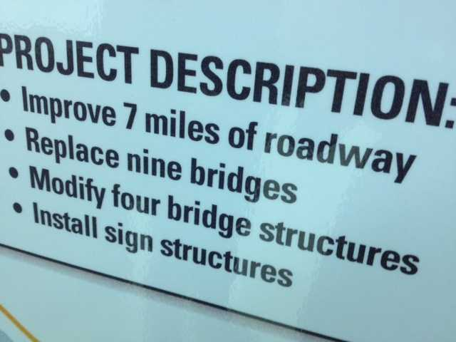 The interstate rehabilitation program will improve 7 miles of I-540 from I-40 to highway 22 (Rogers Ave. )including replacement of 9 bridges.