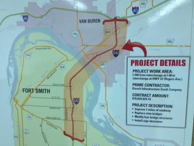 The project is expected to take 11.5 years to complete. The AHTD said that drivers should expect lengthy delays and should use alternative routes. Once completed, there will be newly paved lanes complete with cable safety barricades.