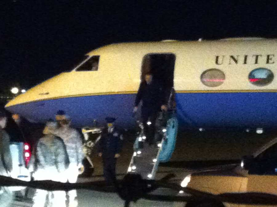US Air Force General Mark Welsh lands in Fort Smith the night before his tour of the 188th Fighter Wing.