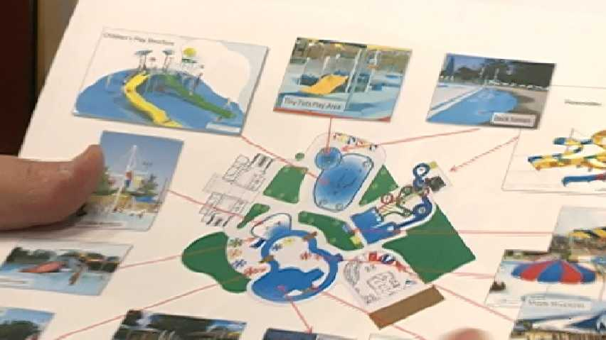 City of Fort Smith and Sebastian County unveil plans for a water park to be opened next year.