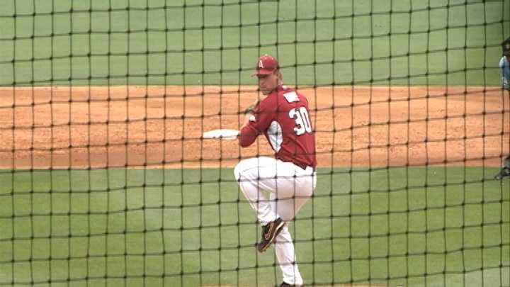 Arkansas pitcher Brandon Moore