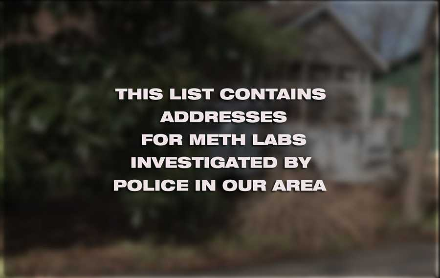 These images include addresses in Washington County. Officials we reached out to in other counties in our area told 40/29 News they did not have these records available. The list includes the date and location of lab.