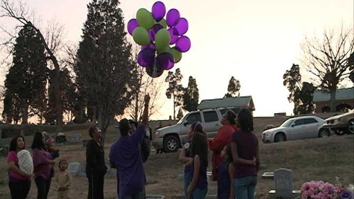 Balloons released for Kaloni Flynn on her birthday