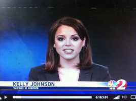 12. Also during college, Kelly interned at two television stations owned by Hearst Television, Inc. WESH-TV in Orlando and WTAE-TV in Pittsburgh. By the way this picture of Kelly is from her first time ever on a real news set!
