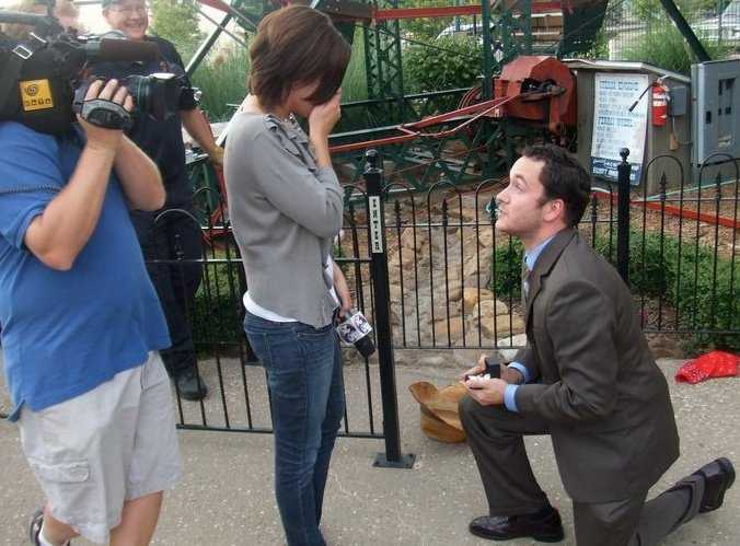 """15. Kelly's now-husband Nic proposed to her on-air! He pretended to be the """"victim"""" trapped at the top of the Ferris Wheel at the Park at West End in downtown Fort Smith. Watch the video here!"""