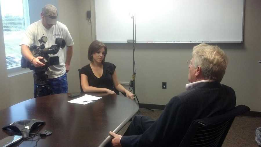 20. One of Kelly's favorite assignments was interviewing Jerry Springer for a story while he was in town for an event with the Arkansas CW (40/29's sister station) .