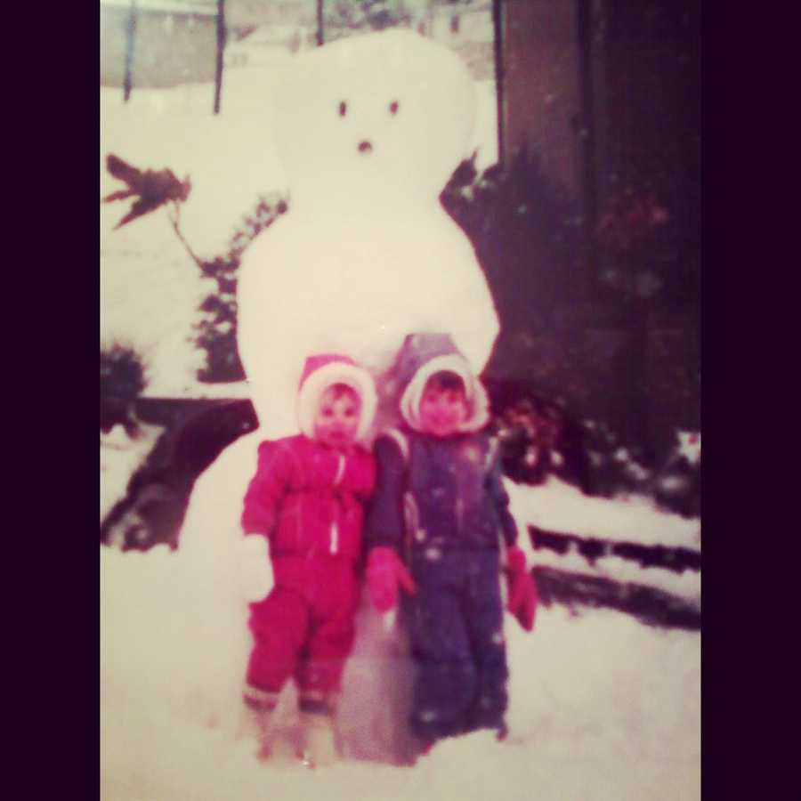 2. Kelly's favorite thing to do growing up was play outside. Even in the cold Pennsylvania winters!