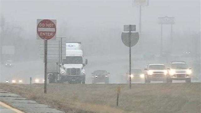 Roads are wet for the evening drive Thursday.