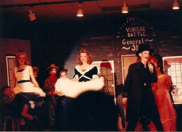 "My first interest in performance and theater happened in middle school.  I was cast as ""Smiling Slade"" the villain of Wagon Wheels West.  Kind of an off Broadway hit, lol."