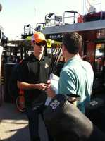 I have become a big NASCAR fan over the last several years. I had an awesome time hanging out with Joey Logano and his crew at Kansas Motor Speedway last year. We talked about how the weather impacts the drivers and the setup of the cars.