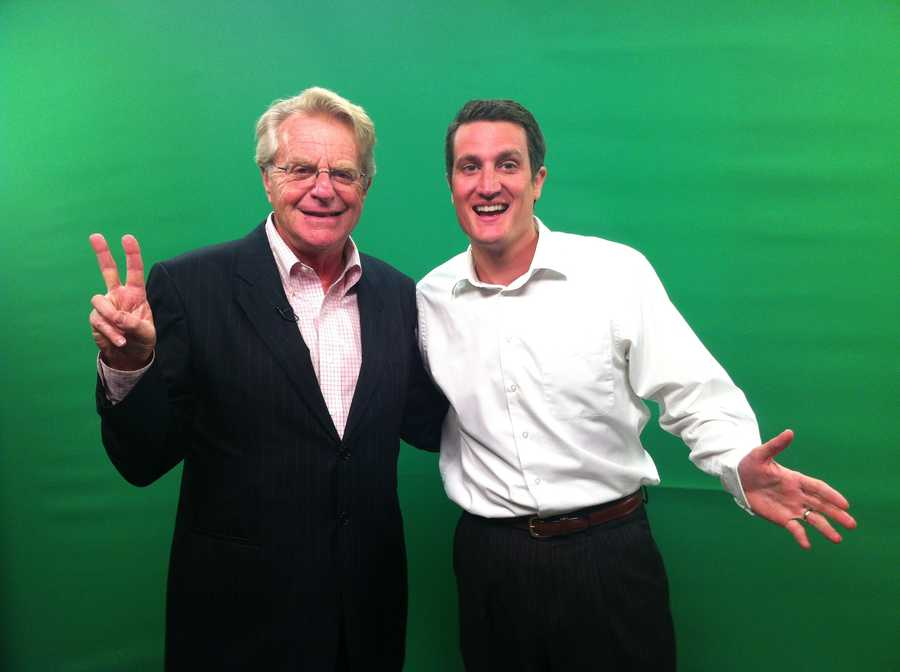 I had a great opportunity to show Jerry Springer some moves on the weather wall.  He was a cool guy, and we all had fun hanging out with him at the station.