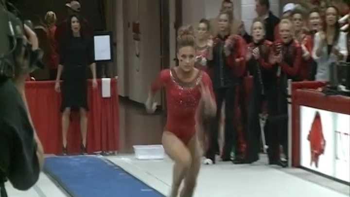 Arkansas All-American gymnast Katherine Grable