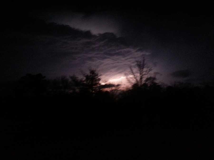 Christine Treblac caught this lightning strike on camera in Shady Point, Okla.
