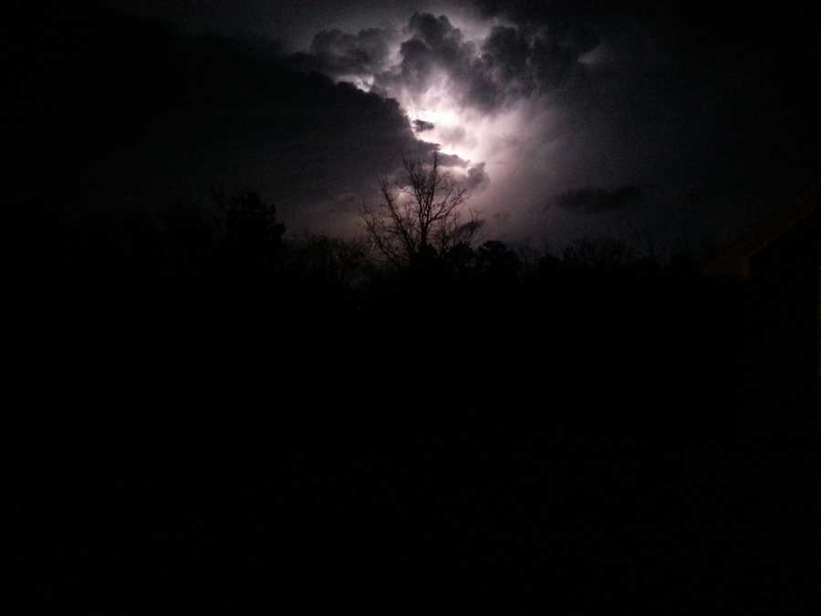 Christina Treblack got this cool picture of lightning striking in the middle of a storm cloud.
