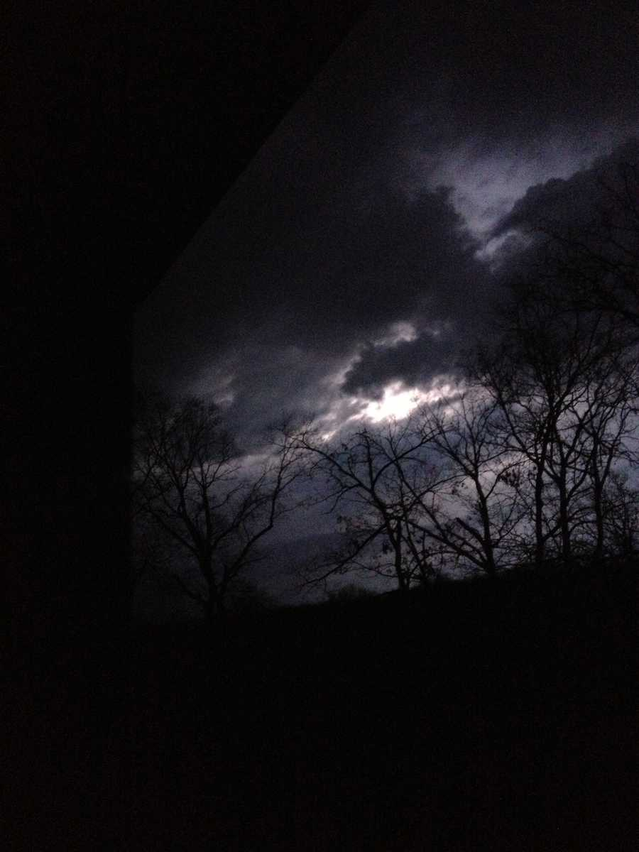 Haylee Bowman took this picture of lightning striking in Pea Ridge