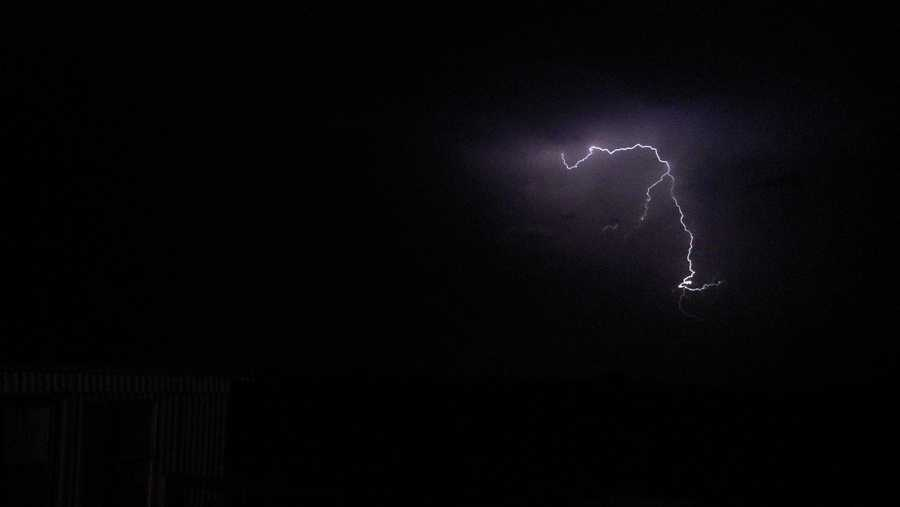 Joe Ullom took this picture of lightning striking in Panama, Okla.