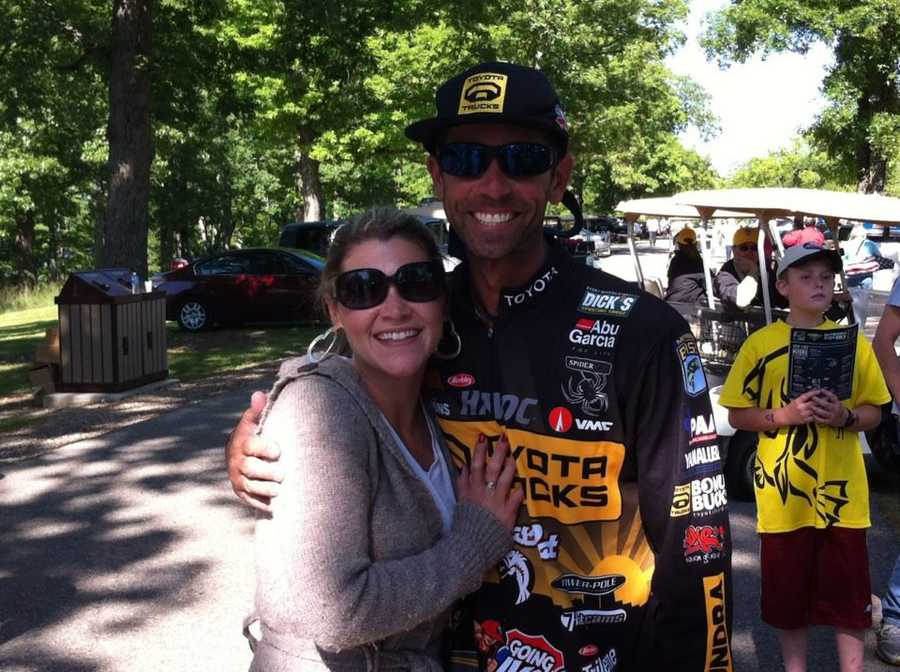 10. This is his girlfriend Kaye-Leigh. She puts up with his fishing addiction, and even meets pro fishermen like Mike Iaconelli.