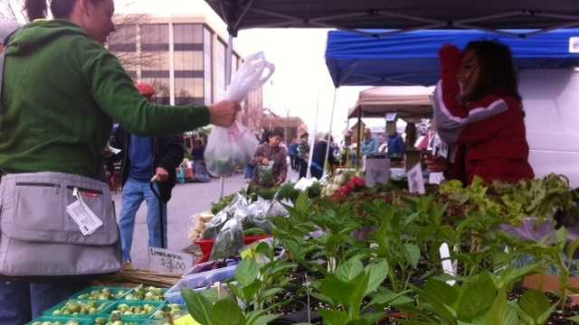 The Fayetteville Farmers Market boasts 100-percent locally grown and sold goods. The market started in 1973.