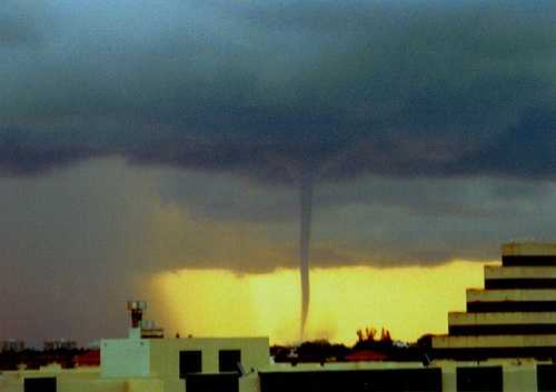 In Miami, FL on August 12, 2003  a waterspout came ashore as a F0 tornado.