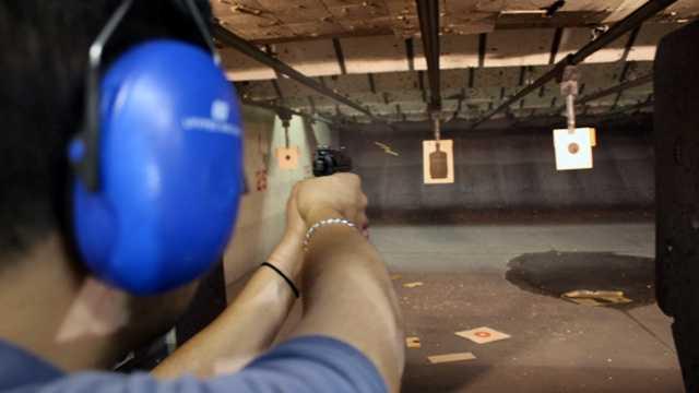Man shoots at gun range gun control