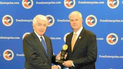 Rep. Steve Womack receiving the 'Spirit of Enterprise' award