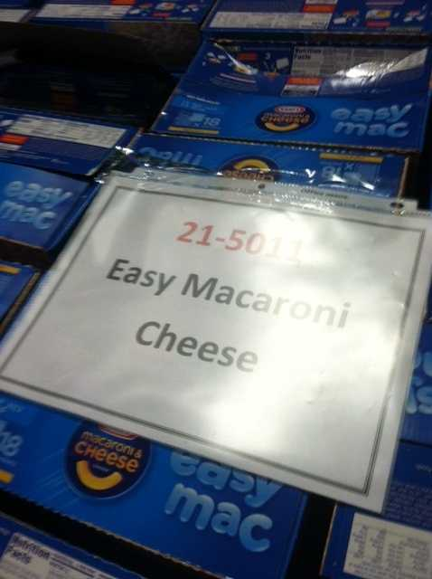Macaroni and cheese is also a great non-perishable food to donate.