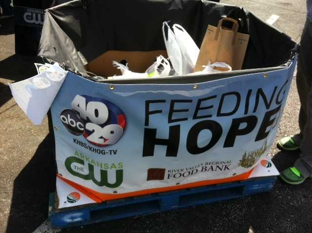 You brought 1,640 pounds of food for The Northwest Arkansas Food Bank.