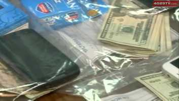 Items confiscated from raid