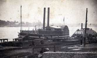 About 20,000 Union troops were headquartered at Helena, along with 4 batteries and the gunboat USS Tyler, pictured here.  More than 7,000 Confederate troops attacked on July 4, 1863, in the Battle of Helena.  Just before the battle, all but about 4,000 of the federal troops left Helena to reinforce Vicksburg, which was under siege.  The Confederates had some success to start off the day, but the Union eventually repelled them.  Helena was able to serve as a base for Union troops to recapture Little Rock later in the war.