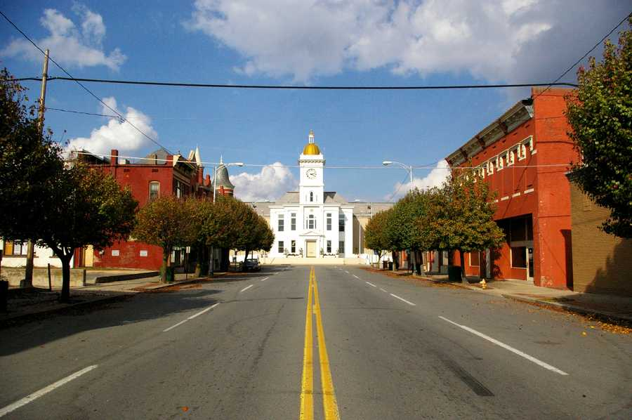 Confederates attacked the Union-held town in the Battle of Pine Bluff on October 25, 1863.  You can see the Jefferson County Courthouse in this photo -- it was already seven years old when the battle began.  300 recently freed slaves rolled cotton bales out of the warehouses to barricade the city square.  The Rebels eventually gave up, and left Pine Bluff under Union control.