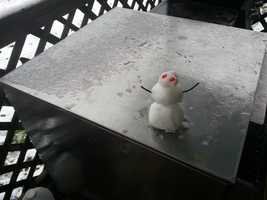 A little snowman in Prairie Grove.