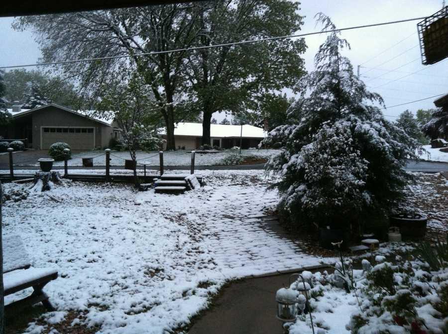 Snow in Bella Vista.