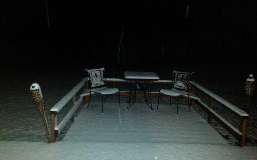 Snow in Bentonville.