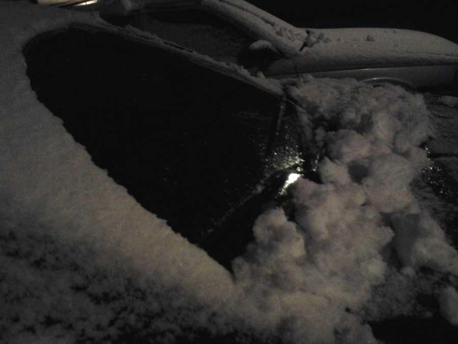 Snow in Fayetteville.