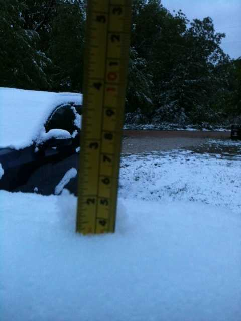 Almost 2 inches of snow in Fayetteville!