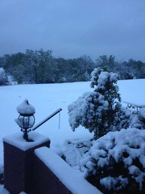 Snow in Gravette.