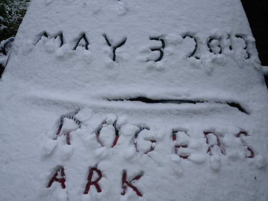 This is what May 3rd looked like in Rogers.