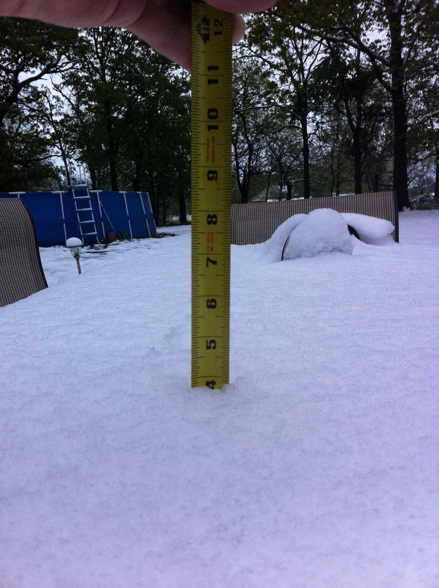 Four inches of snow in Gravette!