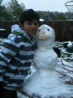 A snowman in Springdale.