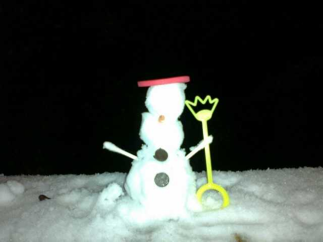 A snowman in West Fork.