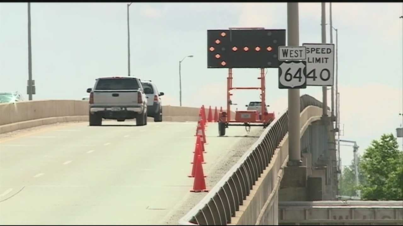 Local bridge has lane shut down while undergoing an inspection for damage.